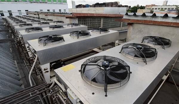 промышленный кондиционер на крыше